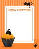 Halloweenowa babeczki Vertical rama [1] Zdjęcie Stock