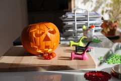 Halloweenowa bania Fotografia Royalty Free