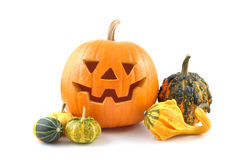 Halloweenowa bania. fotografia stock