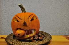 Halloweenowa bania dekorująca zdjęcie royalty free