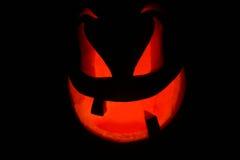 Halloweenowa bania na czarnym tle obrazy stock