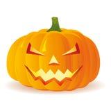 Halloweenowa bania odizolowywająca na białym tle, Zdjęcia Stock