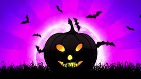Halloweenowa bania w Magenta tle royalty ilustracja