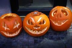 Halloweenowa bania, zakończenie w górę zdjęcie stock