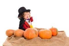 Halloweenowa chłopiec Zdjęcia Royalty Free