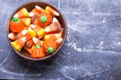 Halloweenowa cukierek kukurudza Obrazy Royalty Free