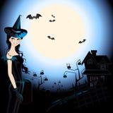Halloweenowa Czarownica Fotografia Royalty Free