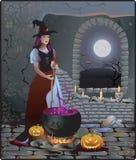 Halloweenowa czarownica royalty ilustracja