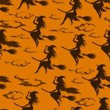 Halloweenowa czarownica, Bezszwowy wzór Obraz Stock