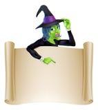 Halloweenowa czarownicy ślimacznica royalty ilustracja