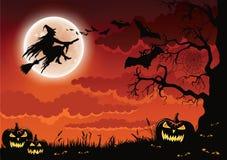 Halloweenowa czarownicy ilustracja obraz royalty free