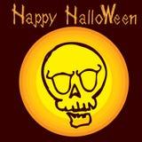 Halloweenowa czaszka A Obrazy Royalty Free
