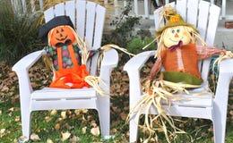 Halloweenowa dekoracja outdoors Zdjęcia Royalty Free