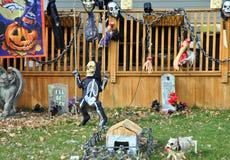 Halloweenowa dekoracja outdoors Obrazy Royalty Free