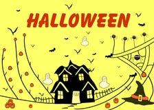 Halloweenowa dekoracyjna wektorowa ilustracja Obrazy Royalty Free