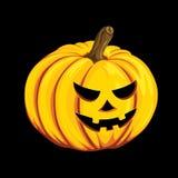 Halloweenowa dyniowa ikona w kreskówka stylu Jack o latarniowy przedmiot odizolowywający na czarnym tle Ja może używać dla twój p Obraz Stock