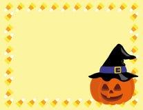 Halloweenowa dyniowa kapelusz rama Obrazy Royalty Free