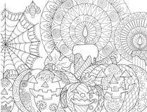 Halloweenowa dyniowa kolorystyka Zdjęcia Stock