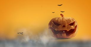 Halloweenowa dyniowa mgła 3d-illustration royalty ilustracja