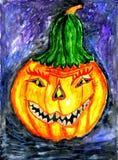 Halloweenowa Dyniowa sztuka Zdjęcia Stock