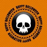 Halloweenowa etykietka Obraz Stock