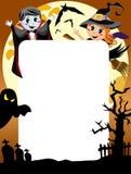 Halloweenowa fotografii rama [3] Zdjęcie Royalty Free