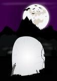 Halloweenowa grób kamienia rama ilustracji