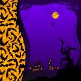 Halloweenowa ilustracja Zdjęcia Stock