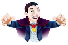 Halloweenowa kreskówka Dracula Zdjęcia Stock