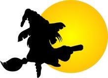 Halloweenowa latająca czarownica ilustracja wektor