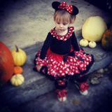 Halloweenowa Minnie Mouse Zdjęcia Stock