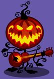Halloweenowa muzykalna bania Obraz Royalty Free