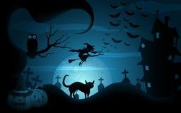 Halloweenowa noc ilustracji