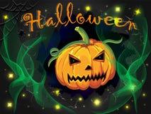 Halloweenowa noc z banią zdjęcie stock