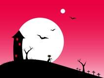 Halloweenowa nocy czerwień Zdjęcia Royalty Free