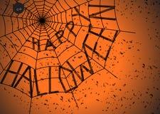 Halloweenowa pająk sieć Zdjęcia Royalty Free