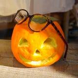 Halloweenowa pomarańczowa twarz obraz royalty free