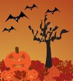 Halloweenowa scena Zdjęcia Stock