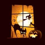 Halloweenowa scena ilustracji
