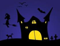 Halloweenowa sceneria Zdjęcia Royalty Free