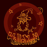 Halloweenowa sowa Obrazy Stock