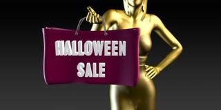 Halloweenowa sprzedaż ilustracja wektor