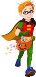 Halloweenowa Super chłopiec Obraz Royalty Free