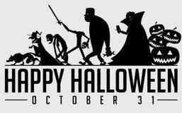 Halloweenowa sylwetka Zdjęcia Stock