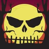 Halloweenowa sztuki czaszki nieba głowa royalty ilustracja