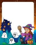 Halloweenowa temat rama 8 Zdjęcia Royalty Free