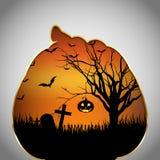 Halloweenowa tło bania z cięcia out kształtem Zdjęcia Stock