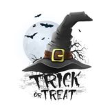 Halloweenowa trikowa lub funda ilustracja obraz royalty free