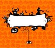 Halloweenowa wektor rama ilustracji