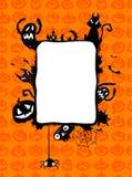 Halloweenowa wektor rama ilustracja wektor